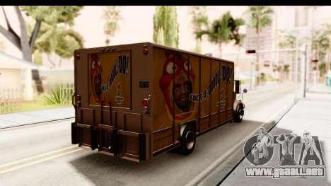 GTA 4 Vapid Benson para GTA San Andreas vista posterior izquierda