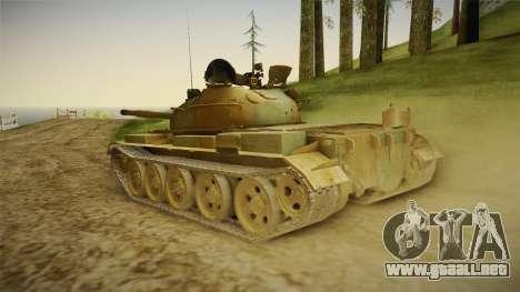 T-62 Desert Camo v2 para GTA San Andreas left