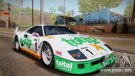 Ferrari F40 (US-Spec) 1989 HQLM para vista lateral GTA San Andreas