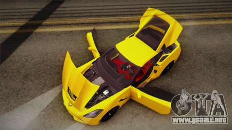 Chevrolet Corvette Stingray 2015 para vista inferior GTA San Andreas