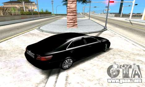 Toyota Camry para vista lateral GTA San Andreas