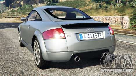 GTA 5 Audi TT (8N) 2004 [replace] vista lateral izquierda trasera