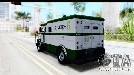 GTA 5 Stockade v1 para GTA San Andreas vista posterior izquierda