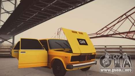 VAZ 2105 Pigler 1.0 para vista lateral GTA San Andreas