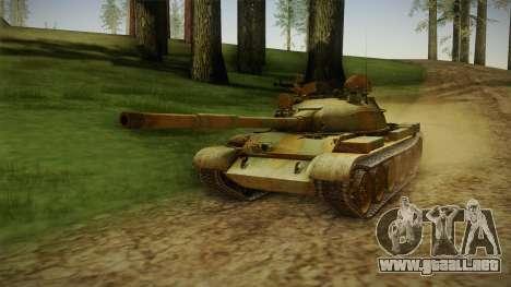 T-62 Desert Camo v2 para GTA San Andreas vista posterior izquierda