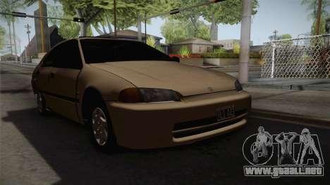 Honda Civic Sedan EX 1993 para la visión correcta GTA San Andreas