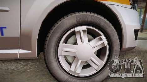 Dacia Logan Facelift Ambulanta v3 para GTA San Andreas vista posterior izquierda