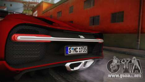 Bugatti Chiron 2017 v2.0 German Plate para GTA San Andreas vista posterior izquierda