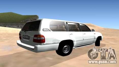 Toyota Land Cruiser 100 para GTA San Andreas left