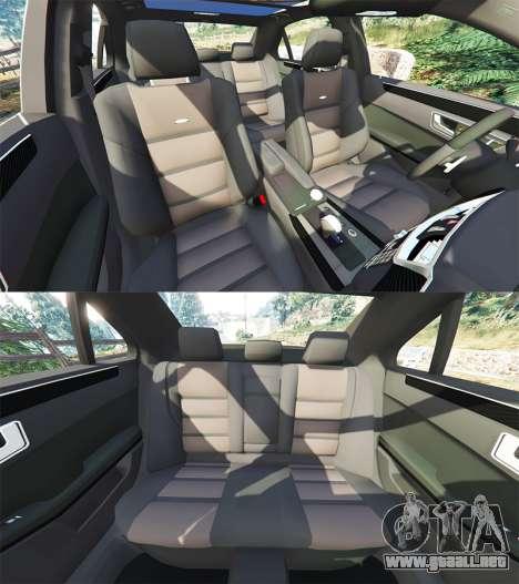 GTA 5 Mercedes-Benz E63 (W212) AMG 2010 [add-on] delantero derecho vista lateral