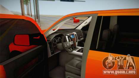Dodge Ram 2500 Lifted Edition para visión interna GTA San Andreas