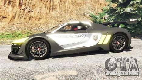 GTA 5 Renault Sport RS 01 2014 Police Interceptor [a] vista lateral izquierda