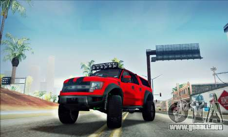 Ford F150 Raptor Long V12 para vista lateral GTA San Andreas