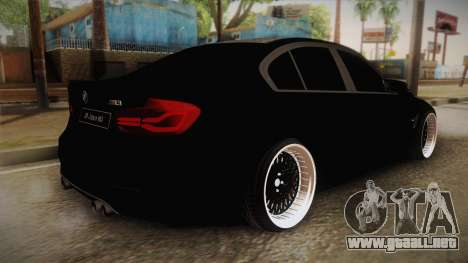 BMW M3 F30 para GTA San Andreas left