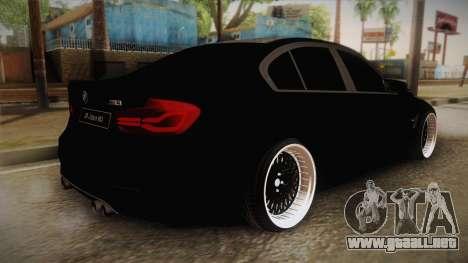 BMW M3 F30 para GTA San Andreas left