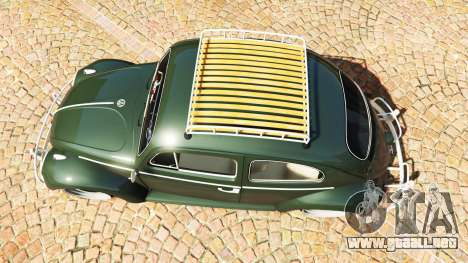 GTA 5 Volkswagen Fusca 1968 v1.0 [replace] vista trasera
