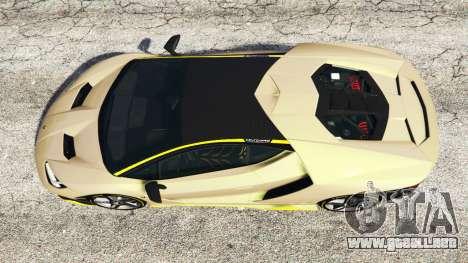 GTA 5 Lamborghini Centenario LP770-4 2017 [replace] vista trasera