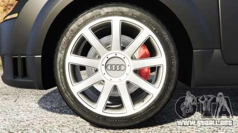 GTA 5 Audi TT (8N) 2004 [add-on] vista lateral trasera derecha