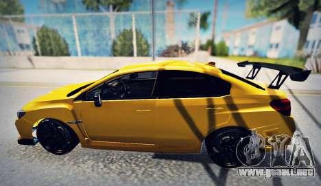 Subaru WRX STI S207 NBR CHALLENGE YELLOW EDITION para GTA San Andreas left