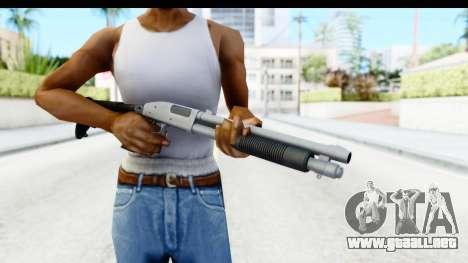 Tactical Mossberg 590A1 Chrome v4 para GTA San Andreas tercera pantalla