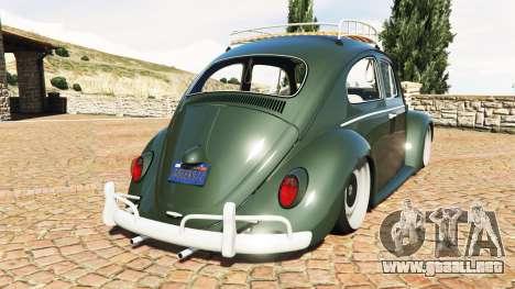 GTA 5 Volkswagen Fusca 1968 v1.0 [replace] vista lateral izquierda trasera