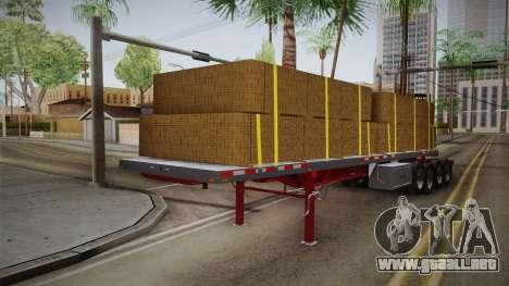 Trailer Americanos v2 para GTA San Andreas vista posterior izquierda