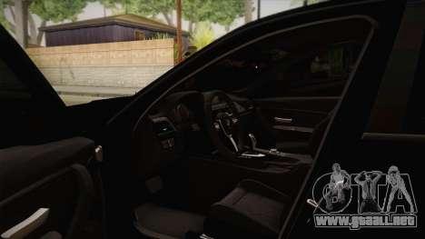 BMW M3 F30 para visión interna GTA San Andreas