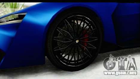 GTA 5 Pegassi Reaper SA Style para GTA San Andreas vista hacia atrás