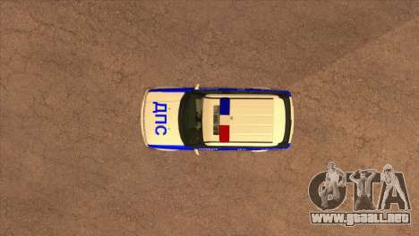 Range Rover Sport ДПС para vista lateral GTA San Andreas