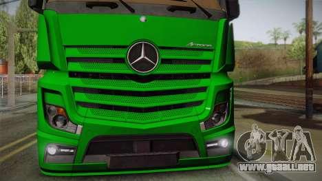 Mercedes-Benz Actros Mp4 4x2 v2.0 Gigaspace para la visión correcta GTA San Andreas