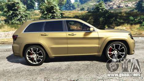 GTA 5 Jeep Grand Cherokee SRT-8 2014 [replace] vista lateral izquierda