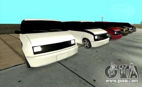Moonbeam Kaef para GTA San Andreas vista posterior izquierda