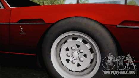 Lamborghini Espada S3 39 1972 para GTA San Andreas vista posterior izquierda
