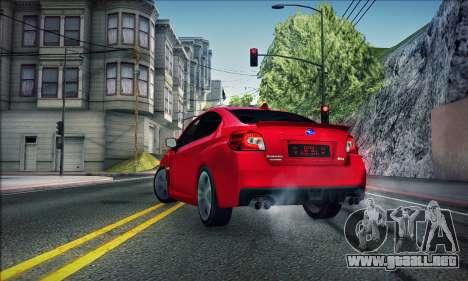 Subaru WRX 2015 para GTA San Andreas left
