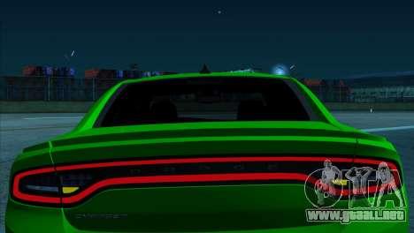 2016 Dodge Charger RT Forza Horizon 2 para GTA San Andreas vista posterior izquierda