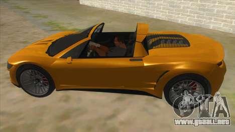 GTA V Dynka Jester Spider para GTA San Andreas left