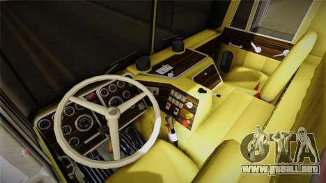 Peterbilt Monster Truck para GTA San Andreas vista hacia atrás
