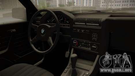 BMW M3 E30 Edit v1.0 para visión interna GTA San Andreas