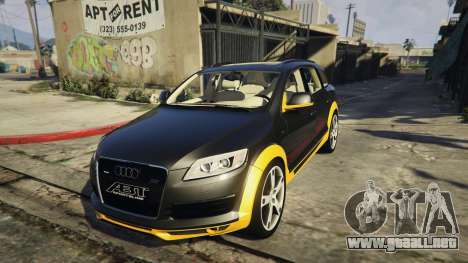 2009 Audi Q7 AS7 ABT para GTA 5