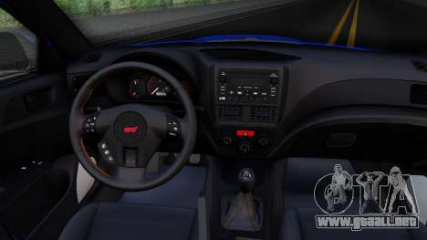 Subaru WRX STi Widebody para visión interna GTA San Andreas