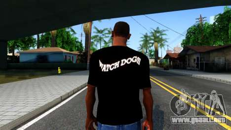 T-Shirt Watch Dogs 2 para GTA San Andreas tercera pantalla