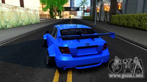 Subaru WRX STi Widebody para GTA San Andreas vista posterior izquierda