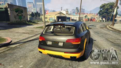GTA 5 2009 Audi Q7 AS7 ABT vista trasera