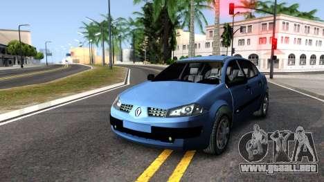 Renault Megane Sedan para la visión correcta GTA San Andreas