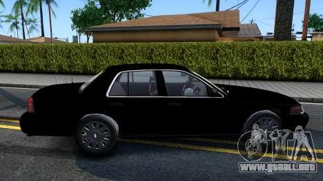 Ford Crown Victoria OHSP Unmarked 2010 para GTA San Andreas vista posterior izquierda