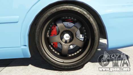 GTA 5 Toyota Chaser (JZX100) v1.1 [add-on] vista lateral trasera derecha