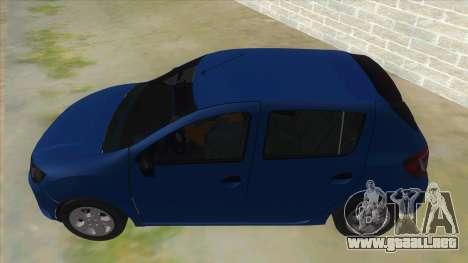 2016 Dacia Sandero para GTA San Andreas left