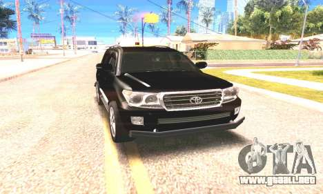 Toyota Land Cruiser 200 para GTA San Andreas left