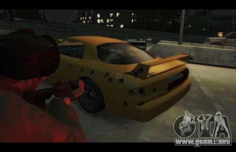 ZR 350 GTA San Andreas v1.0 para GTA 4 vista hacia atrás