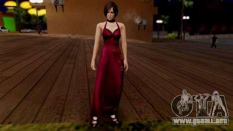 Resident Evil 6 - Ada Dress para GTA San Andreas segunda pantalla